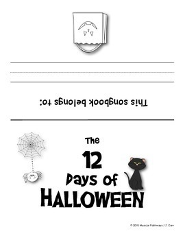 12 Days of Halloween Coloring Book / Songbook