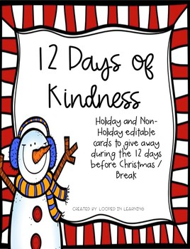 12 Days of Kindness / Christmas