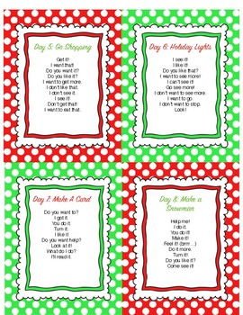 12 Days of Modeling: Core Vocabulary Partner Activities for the Holiday Season