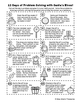 12 Days of Problem Solving with Santa's Elves!