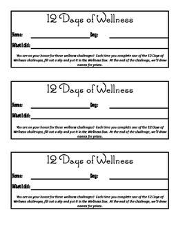 12 Days of Wellness Staff Challenge