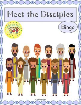 12 Disciples of Jesus Bingo Game