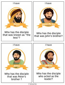 12 Disciples of Jesus I Have Who Has Game