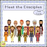 12 Disciples of Jesus Task Cards FREEBIE