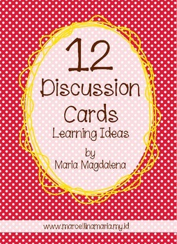 FREE 12 Discussion Cards Learning Ideas