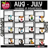 -★-UPDATED-★- 12 EDITABLE CALENDARS JULY 2020 TO JUNE 2021