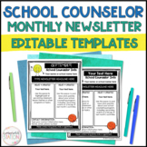 16 Editable School Counselor Monthly Newsletter Templates
