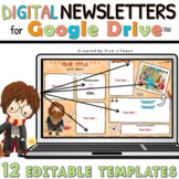 12 EDITABLE classroom NEWSLETTER templates for GOOGLE DRIVE™ Wizard 6