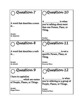 12 ELA Question Flip Book