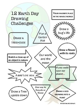 12 Earth Day Drawing Challenges