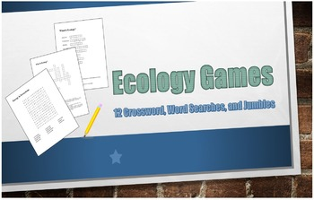 12 Ecology Review Games