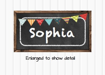 Chalkboard Editable Blank Multipurpose Classroom Labels Small
