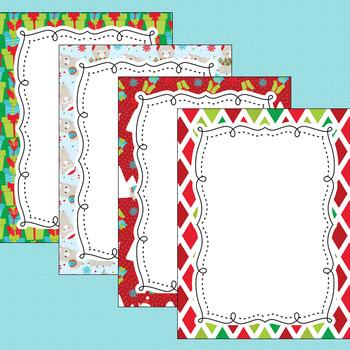 12 Editable Christmas Llamas Decor Poster Templates (Portrait) PPT