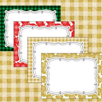 12 Editable Christmas Lodge Decor Poster Templates (Landscape) PPT