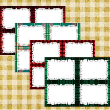 12 Editable Christmas Lodge Task Card Decor Templates (Landscape) PPT