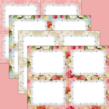 12 Editable Mom S Roses And Polka Dots Task Card Decor Invitation Templates Ppt