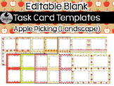 12 Editable Task Card Templates Apple Picking (Landscape) PowerPoint