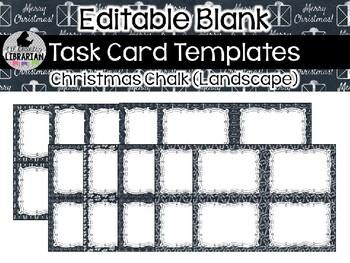 10 editable task card templates christmas chalk landscape powerpoint