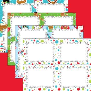 12 Editable Task Card Templates Christmas Cocoa (Landscape) PowerPoint