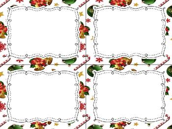12 Editable Task Card Templates Classic Christmas (Landscape) PowerPoint