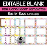 12 Editable Task Card Templates Easter Eggs (Landscape) Po