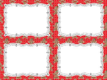 12 Editable Task Card Templates Gingerbread Man 2 (Landscape) PowerPoint