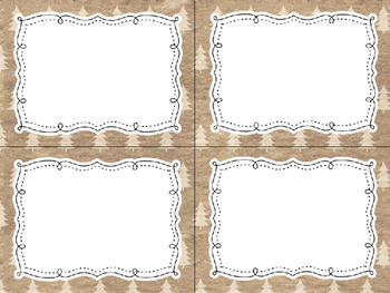 12 Editable Task Card Templates Shabby Christmas (Landscape) PowerPoint