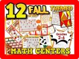 12 FALL themed leveled Math games: Grades 2-6