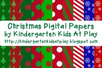 12 FREE Christmas Digital Papers