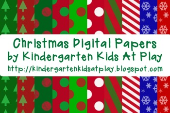 12 FREE Christmas Digital Papers
