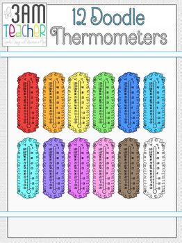 12 FREE Colorful Thermometers by The 3AM Teacher!!