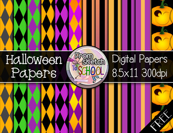 12 FREE Halloween Digital Papers {From Sketch to School}