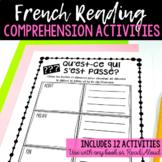 12 FRENCH Reading Responses / 12 activités de compréhension