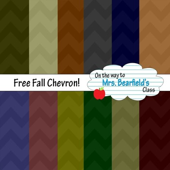 Digital Papers {Fall Chevron}