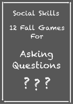 12 Fall Games For Asking Questions!