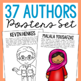 12 Famous Authors Coloring Page Crafts or Posters with Inf