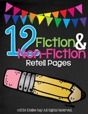 12 Fiction and Non-Fiction Retelling Pages {Common Core Aligned}