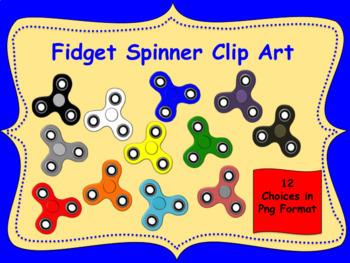 12 Fidget Spinner Clip Art in Png Format
