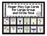 12 Finger Play Cue Cards for Large / Whole Group or Circle Time - Songs & Rhymes