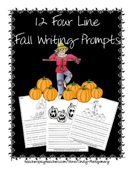 12 Four Line Fall Writing Prompts