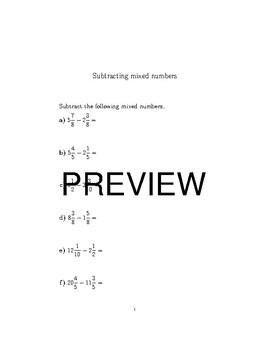 12 Fraction worksheets bundle