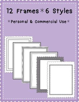 12 Frames- 6 Line Art Styles