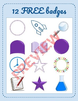 12 Free Badge Images for Classroom Gamification