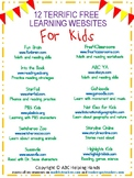 12 Free Websites Poster to Share With Parents