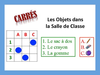 French Classroom Object Activities; Do Now, Fast Finisher,
