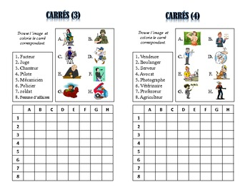 French Jobs and Professions Activities; Do Now, Fast Finisher, Homework