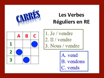 French RE Verb Activities; Do Now, Fast Finisher, Homework