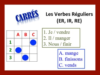 French Regular Verb Activities; Do Now, Fast Finisher, Homework