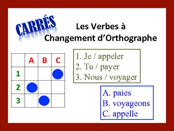 French Spelling-Change Verb Activities; Do Now, Fast Finisher, Homework