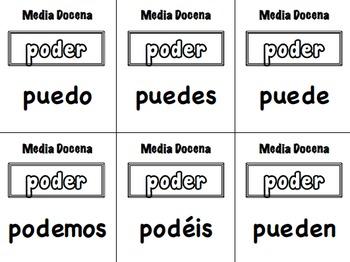 12 Spanish Verb Form Activities for Small Groups (Half Dozen, Media Docena)